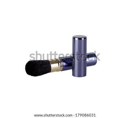 cosmetic brush for makeup - stock photo