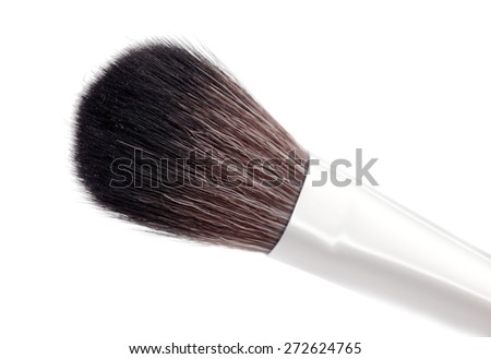 cosmetic brush  isolated on a white background - stock photo