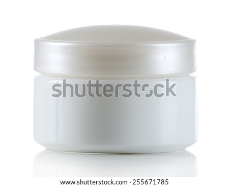 Cosmetic can isolated on white
