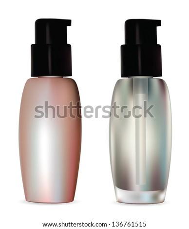 cosmetic container.Rasterized illustration. Vector version in my portfolio - stock photo