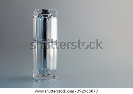 cosmetic container with white background - stock photo