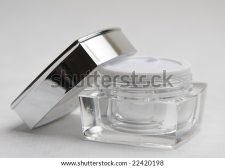 Cosmetic cream container - stock photo