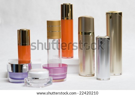 Cosmetic cream containers and bottles