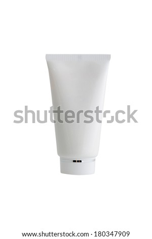 cosmetic cream in a tube - stock photo