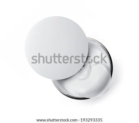Cosmetic cream isolated on white  - stock photo