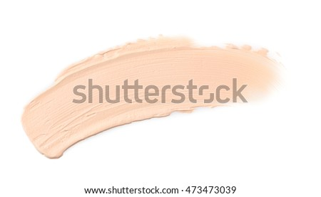 Cosmetic cream, isolated on white