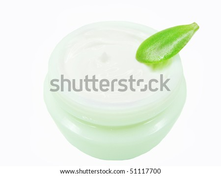 cosmetic creme for face health-care - stock photo