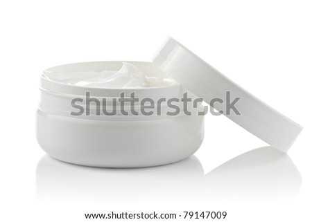 Cosmetic face cream container - stock photo