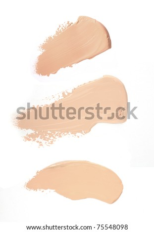 Cosmetic liquid foundation isolated on white background. MakeUp product - stock photo