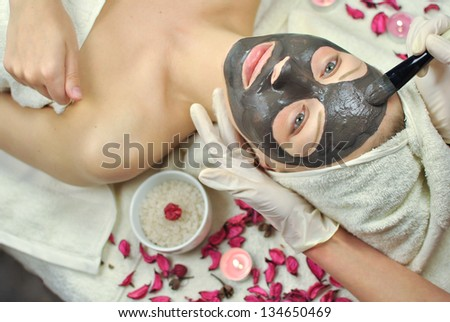 Cosmetic mask - stock photo