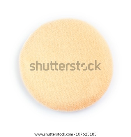 Cosmetic powder puff - stock photo