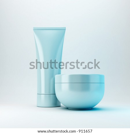 Cosmetic Products - stock photo