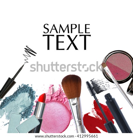 cosmetic promotion with copy space - stock photo