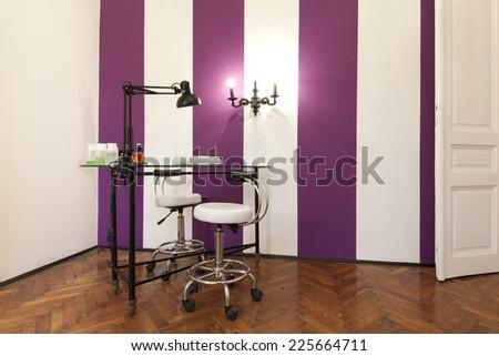 Cosmetic saloon interior - stock photo