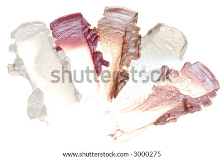 Cosmetic Samples isolated on white