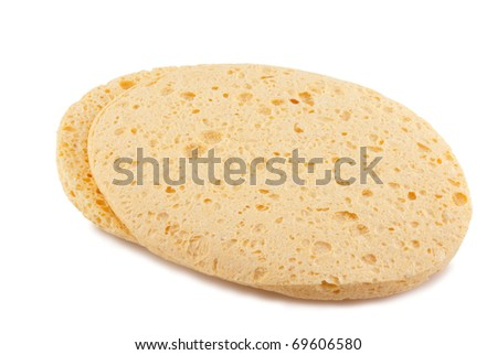 cosmetic sponge isolated on a white background - stock photo