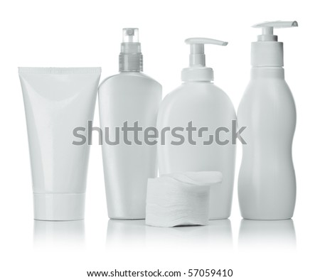 cosmetical bottles - stock photo