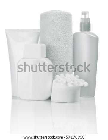 cosmetical set - stock photo