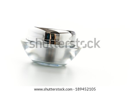 Cosmetics bottle isolated on white