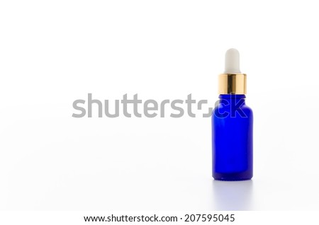 Cosmetics bottles isolated on white - stock photo