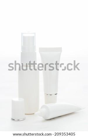 Cosmetics Containers - stock photo