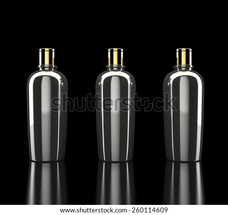 Cosmetics containers / packaging. High resolution. - stock photo