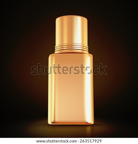 Cosmetics containers,  packaging on black background  . High resolution. - stock photo