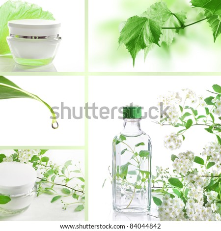 Cosmetics set of photos - stock photo