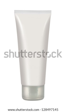 Cosmetics tube isolated on white. Makeup (Cosmetics)