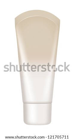Cosmetics tube isolated on white with clipping path for a glamorous makeup.  Make-up (Cosmetics).