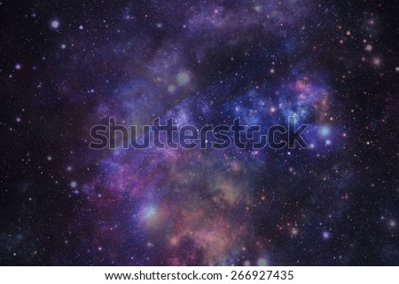 Cosmic abstract background or Star sky - stock photo
