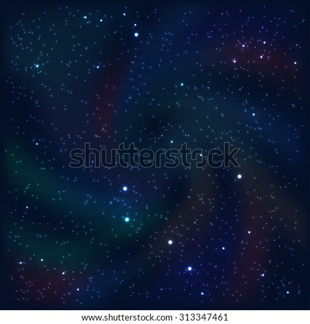 Cosmic abstract background with stars and nebulas.