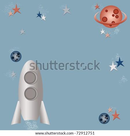 Cosmic children background - stock photo
