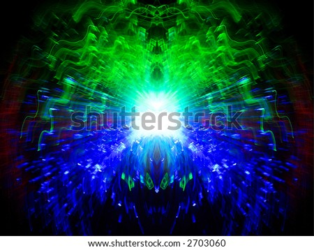 Cosmic combustion - stock photo