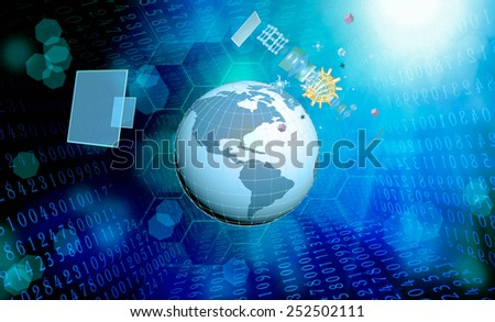Cosmic connection.Science research Cosmos - stock photo