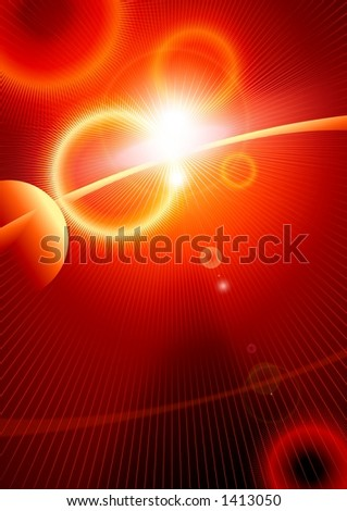 Cosmic explosion - stock photo