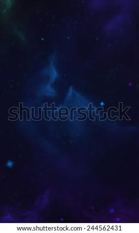 Cosmic Space 1 - Scene Design - stock photo
