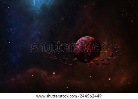 Cosmic Space 3 - Scene Design - stock photo