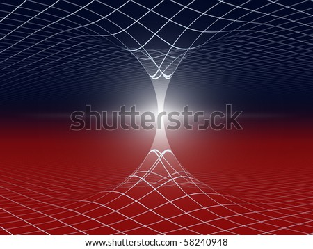 Cosmic space wormhole abstract concept background illustration - stock photo