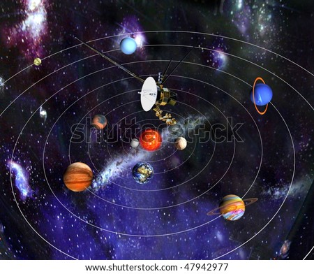 cosmic station - stock photo