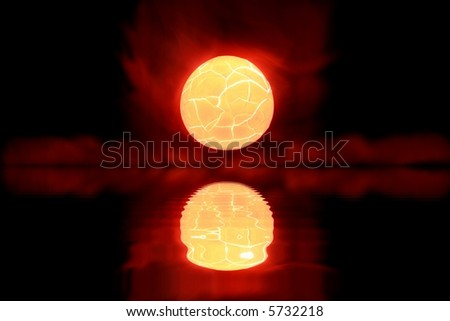 Cosmic Sunset - stock photo