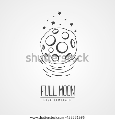 cosmic thin line illustration concept star in galaxy template logo hand drawing