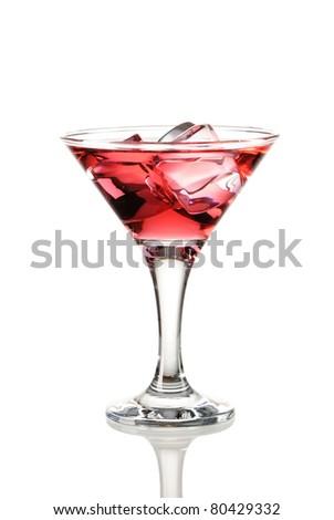 Cosmopolitan cocktail isolated on white - stock photo