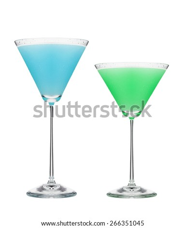 Cosmopolitan cocktails isolated on white background - stock photo