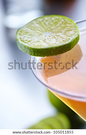 Cosmopolitan Red Drink Cocktail - stock photo