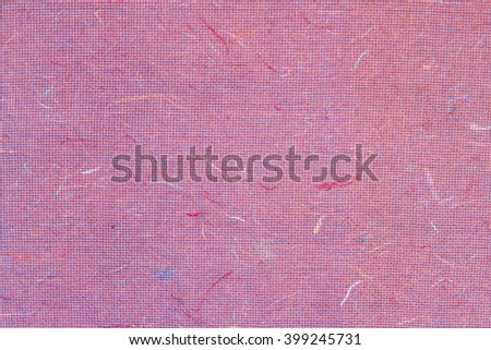Cosmos petals and flowers grass on white Sa Paper texture background, Sa Paper is hand made paper from parish Bosang province Chiang Mai north of Thailand, Mulberry paper texture background - stock photo