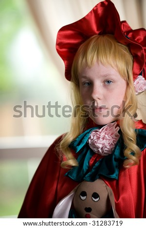 Cosplay outfit, dressed in the style of Shinku from Rozen-Maiden.