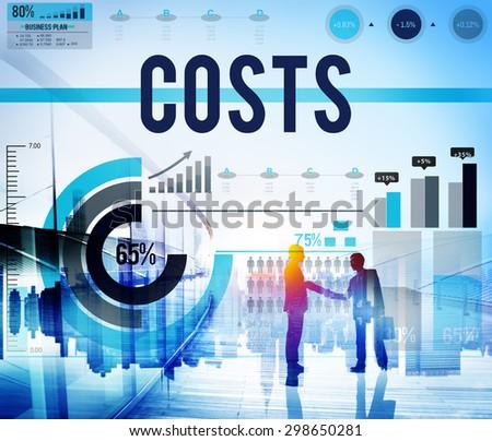 Cost Finance Economic Income Profit Concept - stock photo