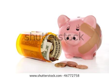 Cost of illness - stock photo