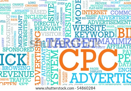 Cost Per Click CPC Advertising as a Concept - stock photo
